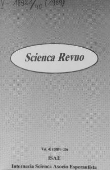 Sceinca Revuo. Vol. 40 (1989)
