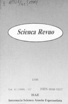 Sceinca Revuo. Vol. 41 (1990)
