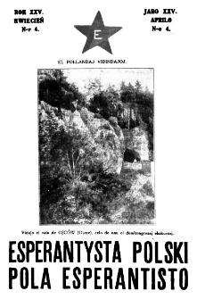 Pola Esperantisto : esperantaj sciigoj por pollingvanoj. Jaro 25, no 4 (Aprilo 1931)