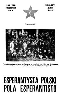 Pola Esperantisto : esperantaj sciigoj por pollingvanoj. Jaro 25, no 6 (Junio 1931)