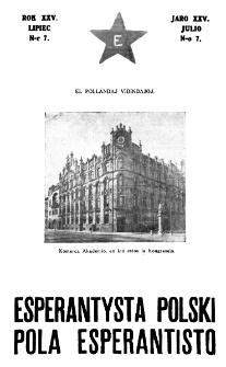 Pola Esperantisto : esperantaj sciigoj por pollingvanoj. Jaro 25, no 7 (Julio 1931)