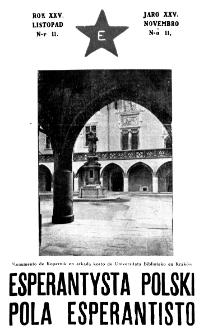 Pola Esperantisto : esperantaj sciigoj por pollingvanoj. Jaro 25, no 11 (Novembro 1931)