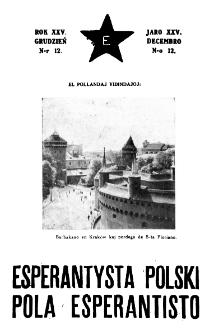 Pola Esperantisto : esperantaj sciigoj por pollingvanoj. Jaro 25, no 12 (Decembro 1931)