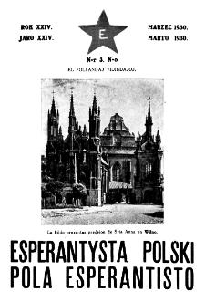Pola Esperantisto : esperantaj sciigoj por pollingvanoj. Jaro 24, no 3 (Marto 1930)