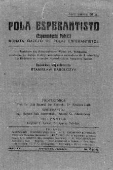 Pola Esperantisto. Jaro 20, no 1=119 (Januaro 1926)