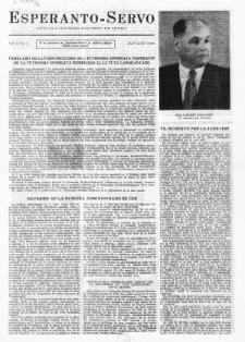 Esperanto Servo : aktuala informa bulteno de Praha. Vol. 2, no. 1 (1949)