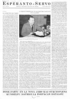 Esperanto Servo : aktuala informa bulteno de Praha. Vol. 4, no. 1 (1951)