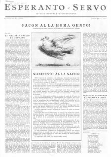 Esperanto Servo : aktuala informa bulteno de Praha. Vol. 3, Speciala eldono (1950)