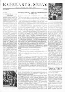 Esperanto Servo : aktuala informa bulteno de Praha. Vol. 4, no. 5 (1951)