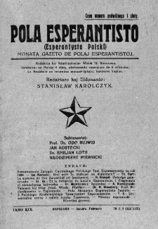 Pola Esperantisto. Jaro 19, no 1/2=111/112 (Januaro-Februaro 1925)