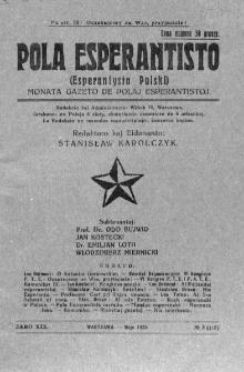 Pola Esperantisto. Jaro 19, no 5=115 (Majo 1925)