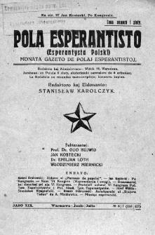Pola Esperantisto. Jaro 19, no 6/7=116/117 (Junio/Julio 1925)
