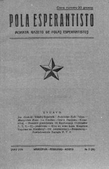 Pola Esperantisto. Jaro 17, no 5=91 (Februaro-Marto 1923)