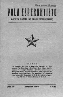 Pola Esperantisto. Jaro 17, no 6=92 (Aprilo 1923)