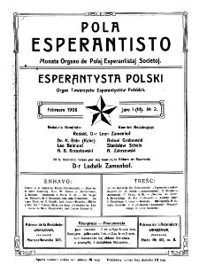 Pola Esperantisto. Jaro 1=3, no 2 (Februaro 1908)