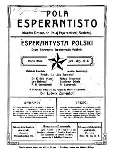 Pola Esperantisto. Jaro 1=3, no 3 (Marto 1908)