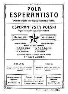 Pola Esperantisto. Jaro 1=3, no 8-9 (Aŭg.-Sept. 1908)