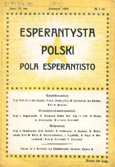 Pola Esperantisto. Jaro 6=8, no 1=69 (Januaro 1913)