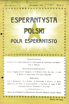 Pola Esperantisto. Jaro 6=8, no 11=79 (Novembro 1913)