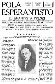Pola Esperantisto : esperantaj sciigoj por pollingvanoj. Jaro 28, no 3 (Marto 1934)