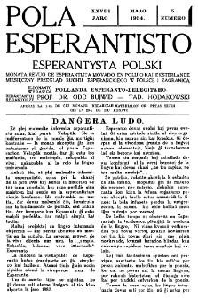 Pola Esperantisto : esperantaj sciigoj por pollingvanoj. Jaro 28, no 5 (Majo 1934)