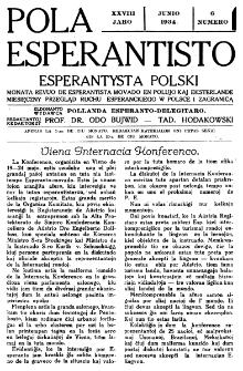 Pola Esperantisto : esperantaj sciigoj por pollingvanoj. Jaro 28, no 6 (Junio 1934)