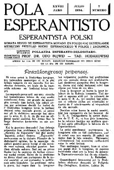 Pola Esperantisto : esperantaj sciigoj por pollingvanoj. Jaro 28, no 7 (Julio 1934)