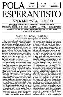 Pola Esperantisto : esperantaj sciigoj por pollingvanoj. Jaro 29, no 7 (Julio 1935)