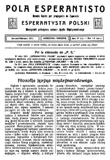 Pola Esperantisto. Jaro 4=6, no 1-2=46-47 (Januaro-Februaro 1911)