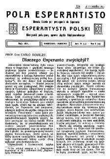 Pola Esperantisto. Jaro 4=6, no 5=50 (Majo 1911)
