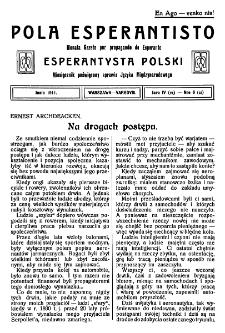 Pola Esperantisto. Jaro 4=6, no 6=51 (Junio 1911)