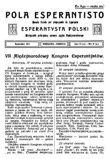 Pola Esperantisto. Jaro 4=6, no 9=54 (Septembro 1911)