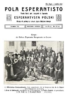 Pola Esperantisto. Jaro 4=6, no 12=57 (Decembro 1911)