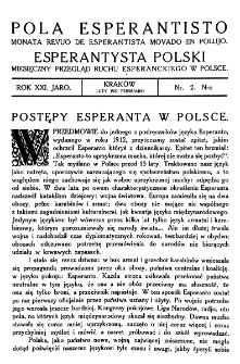 Pola Esperantisto. Jaro 21, no 2 (Luty 1927)