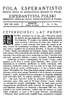 Pola Esperantisto. Jaro 21, no 3 (Marzec 1927)
