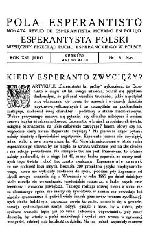 Pola Esperantisto. Jaro 21, no 5 (Maj 1927)
