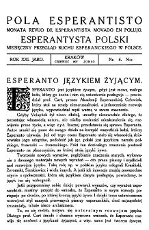 Pola Esperantisto. Jaro 21, no 6 (Czerwiec 1927)