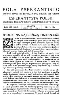 Pola Esperantisto. Jaro 21, no 17 (Lipiec 1927)