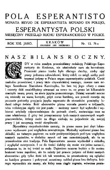 Pola Esperantisto. Jaro 21, no 12 (Grudzień 1927)