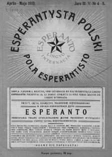Pola Esperantisto. Jaro 3=5, no 4-5 (Aprilo-Majo 1910)