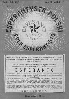 Pola Esperantisto. Jaro 3=5, no 6-7 (Junio-Julio 1910)
