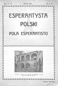 Pola Esperantisto. Jaro 5=7, no 3=60 (Marto 1912)