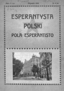 Pola Esperantisto. Jaro 5=7, no 8=65 (Marto 1912)