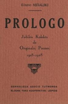 Prologo : Jubilea Kolekto de Originalaj Poemoj 1918-1928.