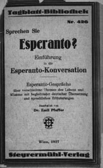 Sprachen sie Esperanto? Einführung in esperanto-konversation.