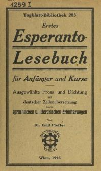 Erstes Esperanto-lesebuch für Anfänger und Kurse.