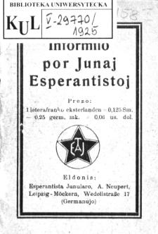 Informilo por Junaj Esperantistoj.
