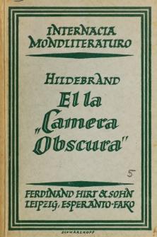 """El la """"Camera obscura""""."""