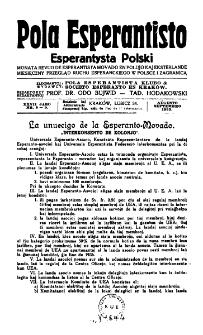 Pola Esperantisto : esperantaj sciigoj por pollingvanoj. Jaro 27, no 8-9 (Aŭgusto-Septembro 1933)