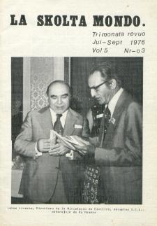 La Scolta Mondo. Vol. 5, n. 3 (1976/1980)